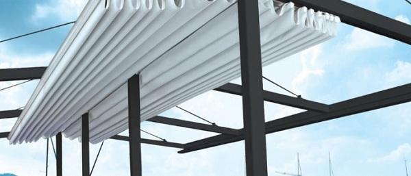 Mái bạt kéo giúp che chắn mưa nắng hoàn hảo