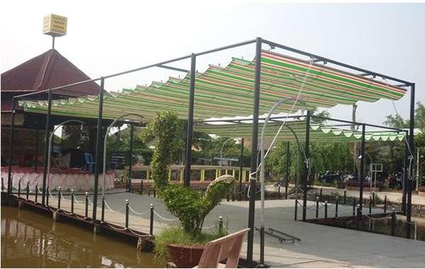 Mái che di động là sự lựa chọn tuyệt vời cho các quán cafe sân vườn, quán ăn để tạo không gian mở rộng rãi và thoáng đãng