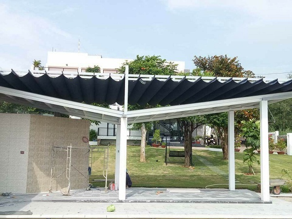 Mái hiên tiền sảnh cho khu vực mặt tiền ngôi nhà